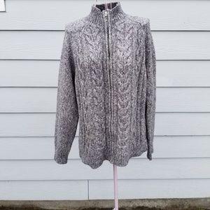 Karen Scott Sweaters - Karen Scott Cardigan with Zipper Closure